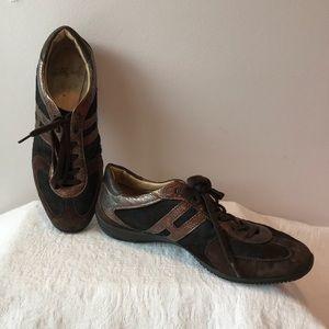 HOGAN Brown Fur Sneakers EU 37 US 7